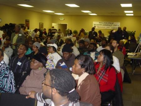 First SCPA Community Speak Out in North Philadelphia.