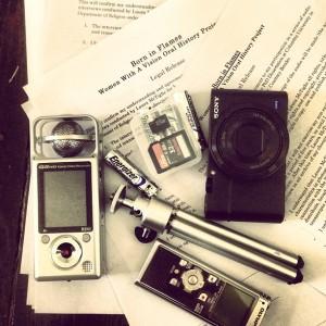 laura's researcher/storyteller kit